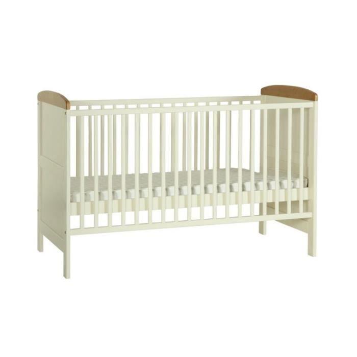 lit bebe ecologique sevilla ivory 140x70 achat vente. Black Bedroom Furniture Sets. Home Design Ideas