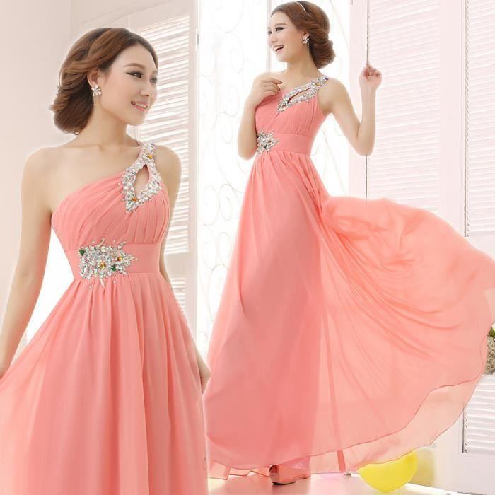 Robe de soir e longue robe de mariage de robe d rose for Robes de mariage discount orlando fl