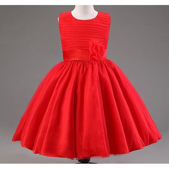 robe rouge fille. Black Bedroom Furniture Sets. Home Design Ideas