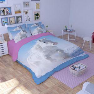 parure housse de couette cheval 200 200 achat vente parure housse de couette cheval 200 200. Black Bedroom Furniture Sets. Home Design Ideas