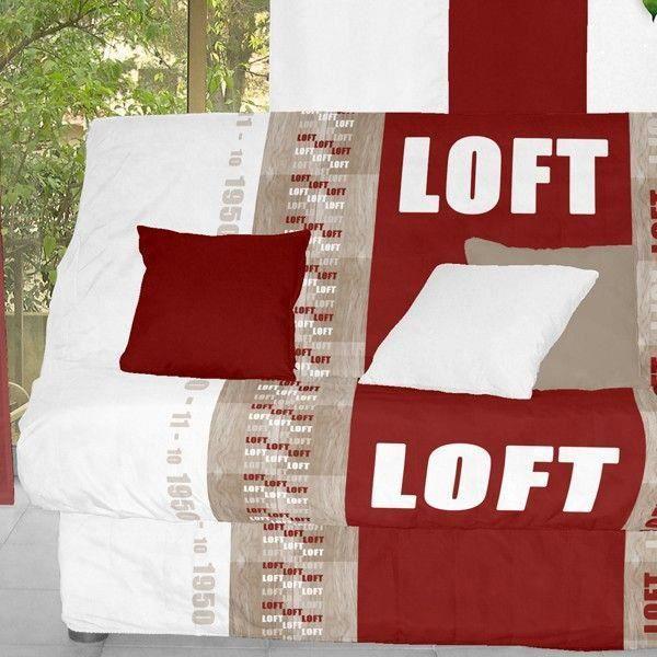 Housse clic clac bande socle loft achat vente for Chambre avec clic clac