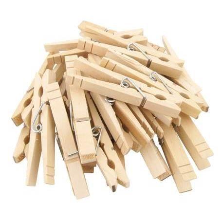 les 24 pinces linge en bois 8 5cm achat vente panier a linge les 24 pinces linge en bo. Black Bedroom Furniture Sets. Home Design Ideas