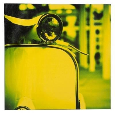 Tableau de decoration vespa annees 60 jaune achat for Decoration maison annee 60