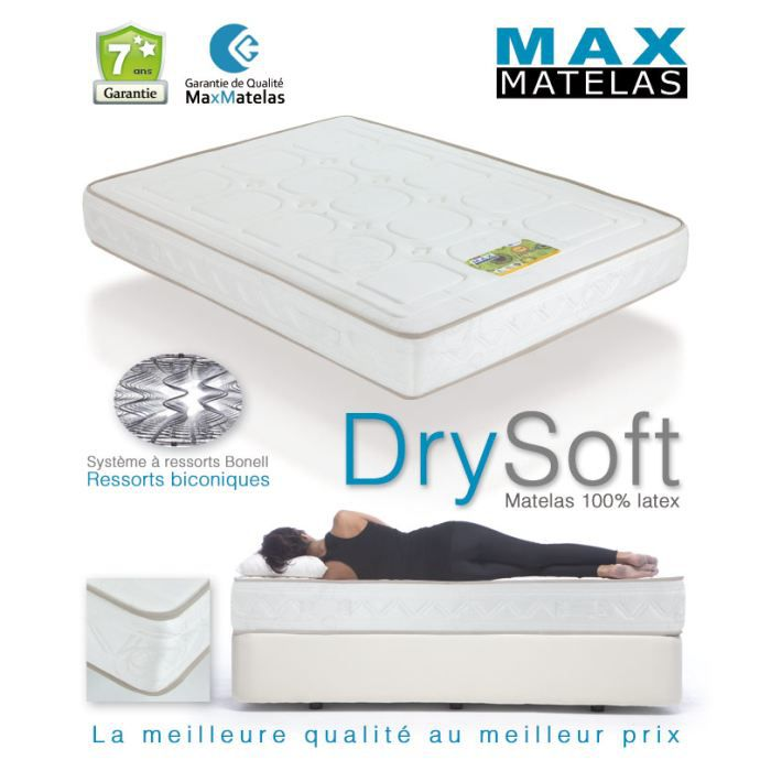 Matelas dry soft 90x190 achat vente matelas soldes d t cdiscount - Matelas ressort biconique ...