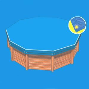 B che opaque pour piscine hors sol octogonale a achat for Bache piscine hors sol octogonale