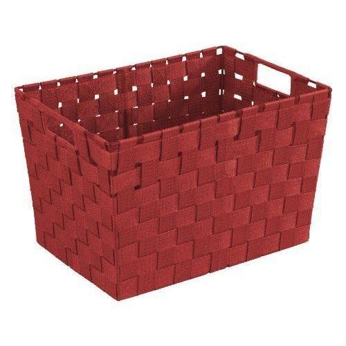 Wenko 20385100 adria corbeille salle de bain rouge m - Corbeille salle de bain ...