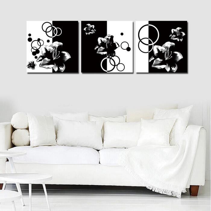 Tableaux peinture sur toile noir et blanc achat vente tableaux peinture s - Tableau noir et blanc pas cher ...