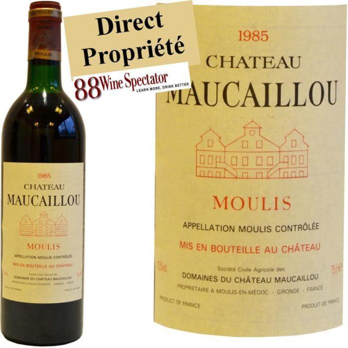 ch teau maucaillou rouge moulis 1985 achat vente vin rouge ch teau maucaillou rouge 1985. Black Bedroom Furniture Sets. Home Design Ideas