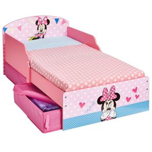 LIT BÉBÉ Petit lit enfant fille Minnie déco chambre rose 70