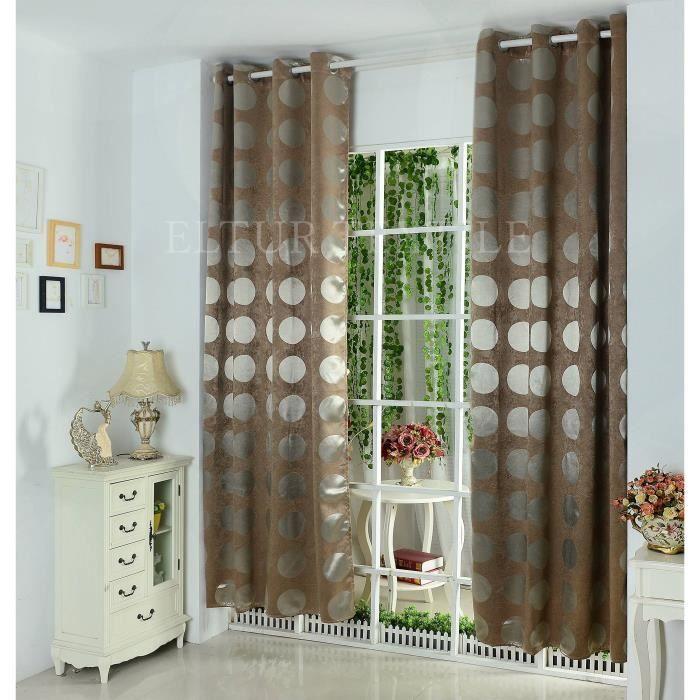 paire de rideaux occultant illets 140x260 achat. Black Bedroom Furniture Sets. Home Design Ideas