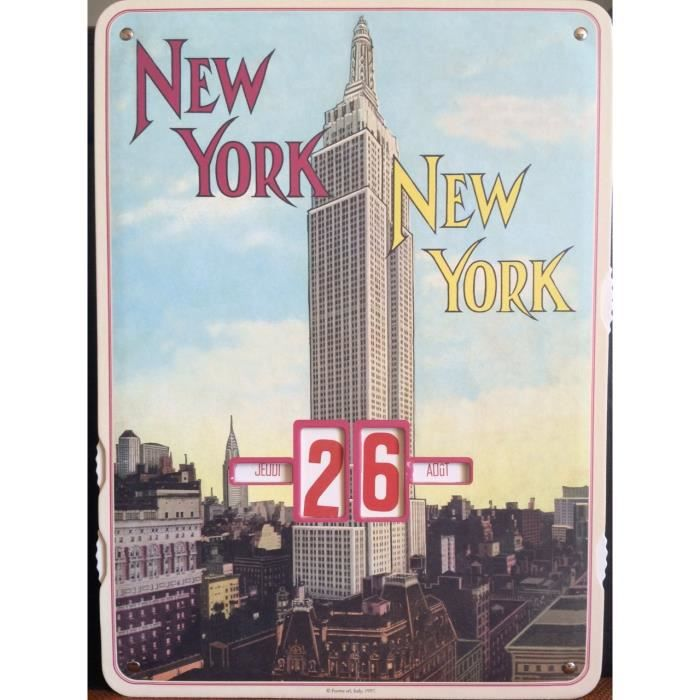 Calendreir perpetuel new york achat vente objet for Decoration murale new york