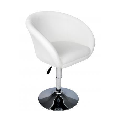 fauteuil rond pivotant achat vente tabouret de bar blanc cdiscount. Black Bedroom Furniture Sets. Home Design Ideas