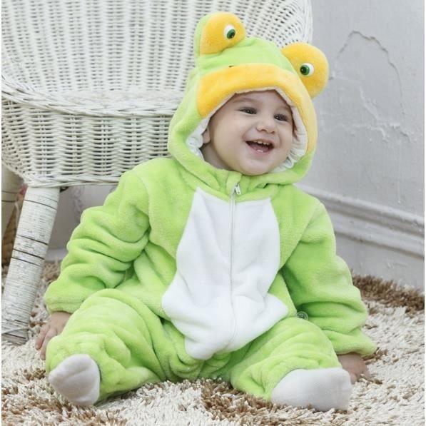 combinaison chaude sur pyjama capuche grenouille vert. Black Bedroom Furniture Sets. Home Design Ideas