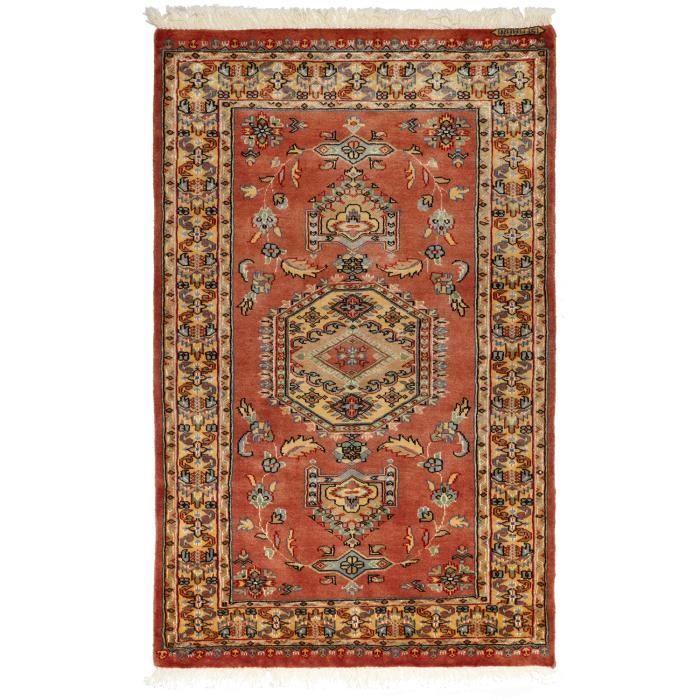 tapis d 39 orient nou main esfahanie soie 3 rouge 95x155 par unamourdetapis achat vente. Black Bedroom Furniture Sets. Home Design Ideas