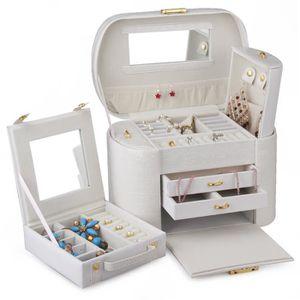 boite bijoux achat vente boite bijoux pas cher les soldes sur cdiscount cdiscount. Black Bedroom Furniture Sets. Home Design Ideas