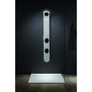 colonne de douche blanc achat vente colonne de douche blanc pas cher cdiscount. Black Bedroom Furniture Sets. Home Design Ideas
