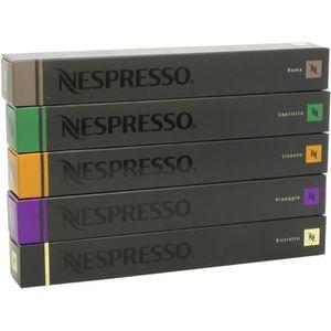 CAFÉ - CHICORÉE Nespresso Lot de 50 capsules de café Varié