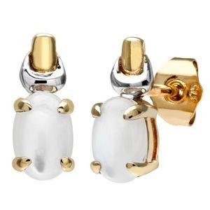 Boucle d'oreille Revoni - Boucles d'oreilles deux ors 9 carats et o