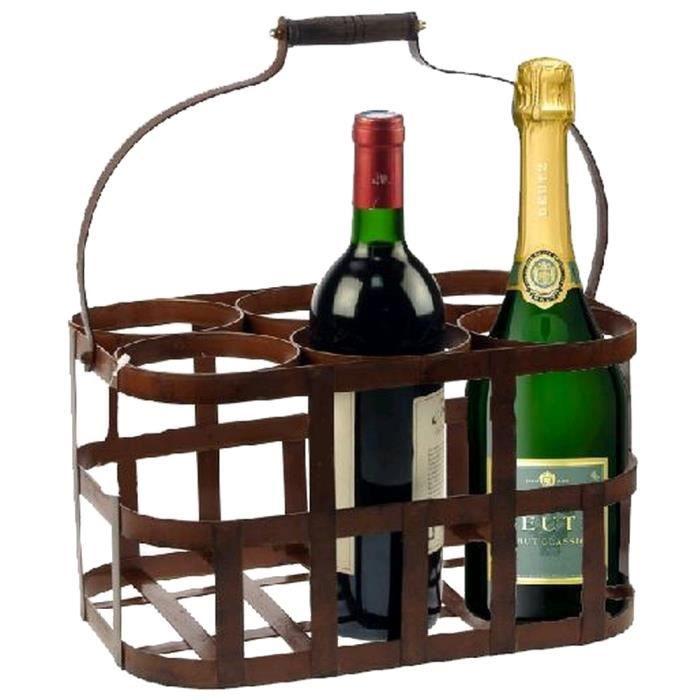 panier a bouteilles retro fer vieilli achat vente porte bouteille panier a bouteilles retro. Black Bedroom Furniture Sets. Home Design Ideas