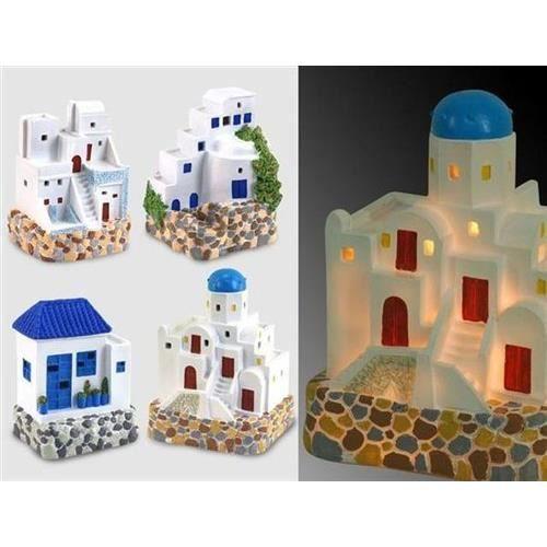 Objet decoratif x 4 maison de pecheur 4 dessin achat for Objet decoratifs