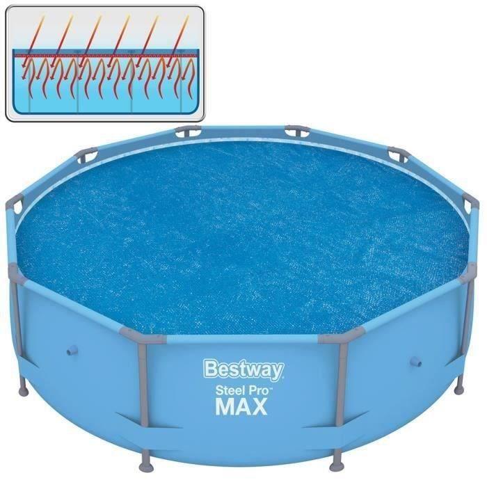 b che solaire 290cm pour frame pool 305cm achat vente b che couverture b che solaire. Black Bedroom Furniture Sets. Home Design Ideas