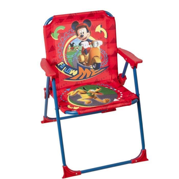 chaise pliable pour enfant mickey mouse et pluto achat vente fauteuil jardin chaise pliable. Black Bedroom Furniture Sets. Home Design Ideas