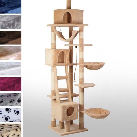 arbre chat g ant kbd010 2 gris avec des pattes achat. Black Bedroom Furniture Sets. Home Design Ideas