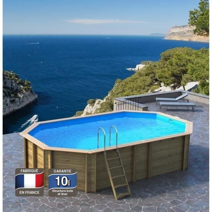 odyssea piscine bois 5 40 x h 1 33m liner bleu achat. Black Bedroom Furniture Sets. Home Design Ideas