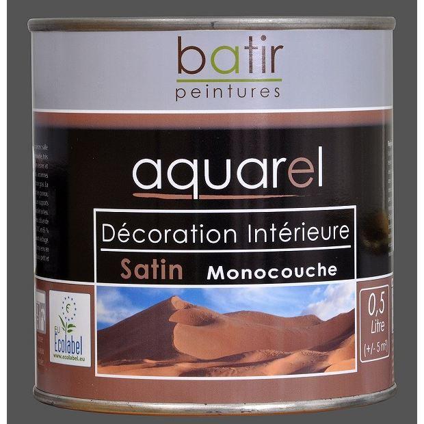 Peinture d coration int rieure satin e aquar achat vente peinture vernis cdiscount for Peinture decoration interieure