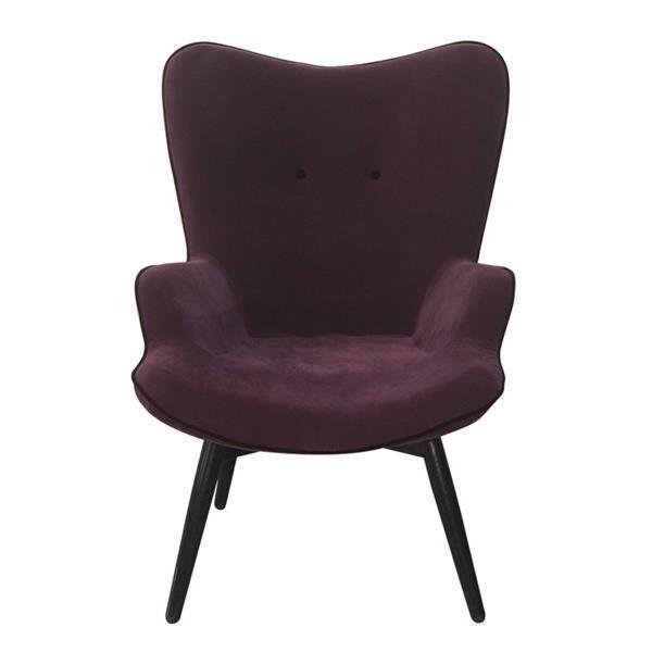 fauteuil arti mauve et aubergine achat vente fauteuil. Black Bedroom Furniture Sets. Home Design Ideas