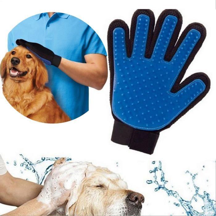 gant de brossage massage toilettage poils pelage ramasse pour chien chat achat vente brosse. Black Bedroom Furniture Sets. Home Design Ideas