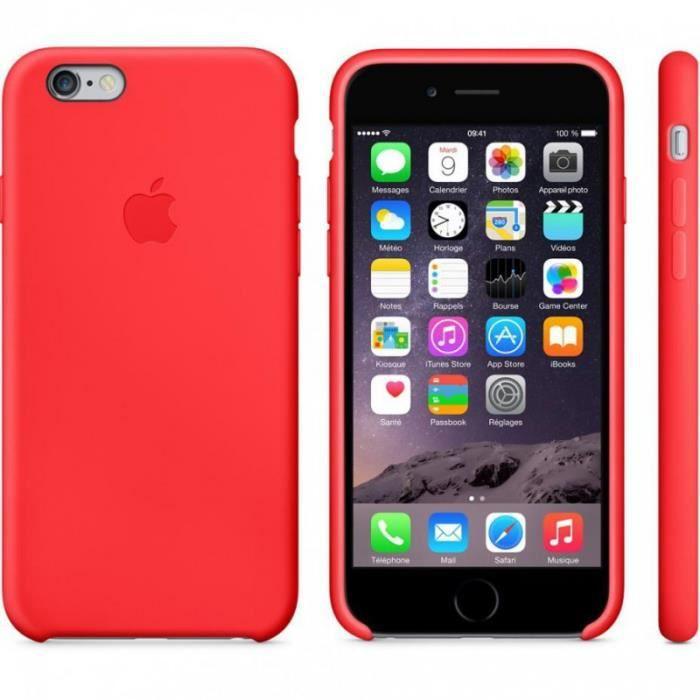 coque silicone rouge pour iphone 6 4 7 achat coque bumper pas cher avis et meilleur prix. Black Bedroom Furniture Sets. Home Design Ideas