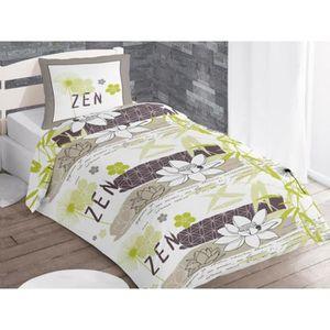 parure housse de couette zen 140x200 achat vente housse de couette cdiscount. Black Bedroom Furniture Sets. Home Design Ideas