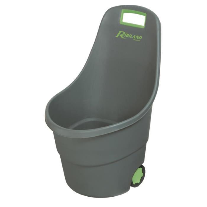 chariot bac sur roulette de jardin pour ramassage dechet vert achat vente brouette soldes. Black Bedroom Furniture Sets. Home Design Ideas