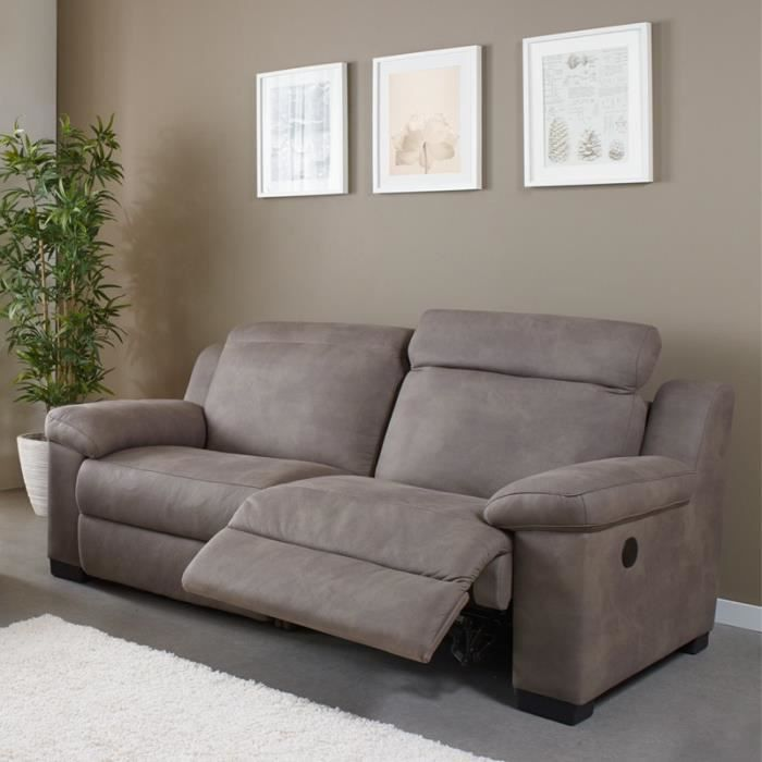 Canap 3p relax lectrique nerb achat vente canap for Canape relaxe electrique