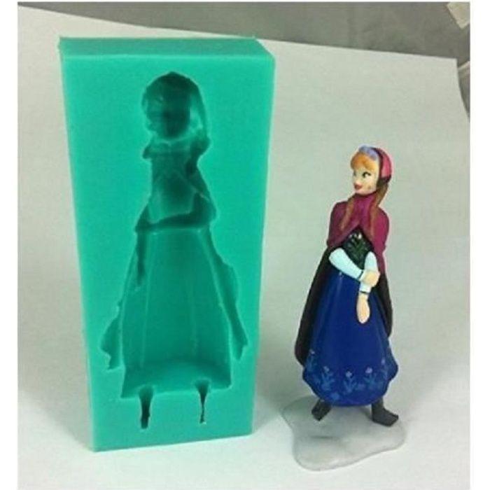 Moule silicone anna de la reine des neiges gateaux pate sucre d amande cake achat vente - La reine de la deco ...