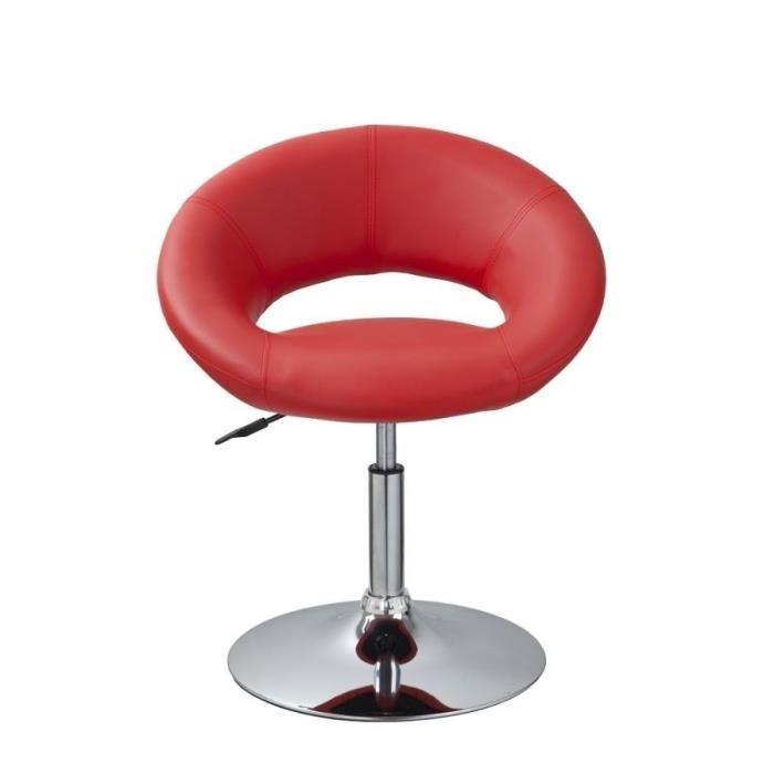 Lot de 4 fauteuils chaise de salle manger rouge design for Chaise design rouge salle a manger