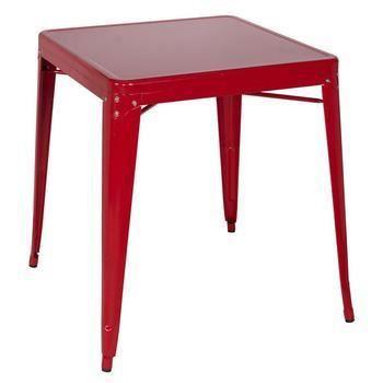 table de bar en m tal rouge achat vente meuble bar. Black Bedroom Furniture Sets. Home Design Ideas
