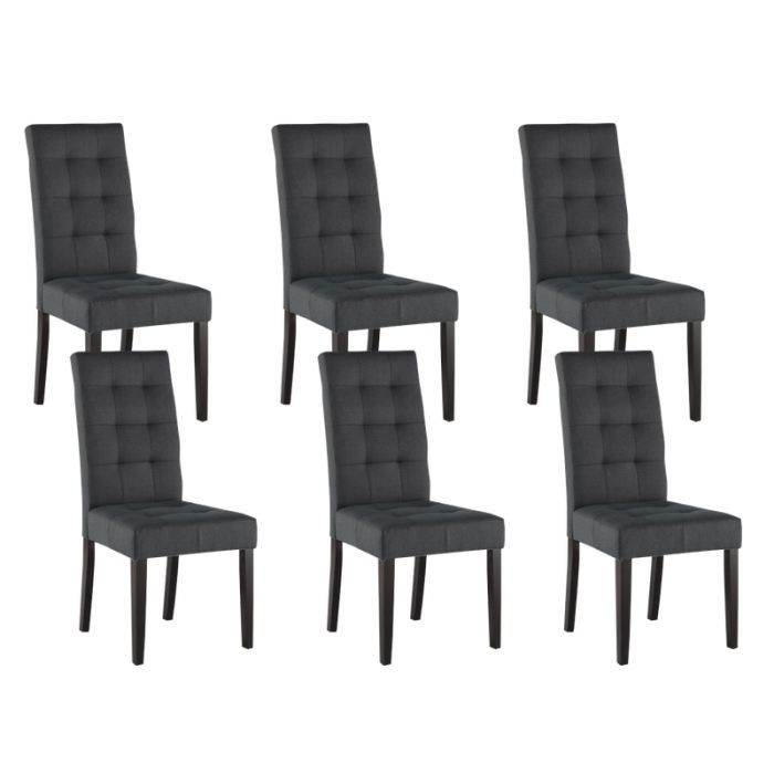 Chaise salle a manger gris anthracite - Chaises en fer forge pour salle a manger ...
