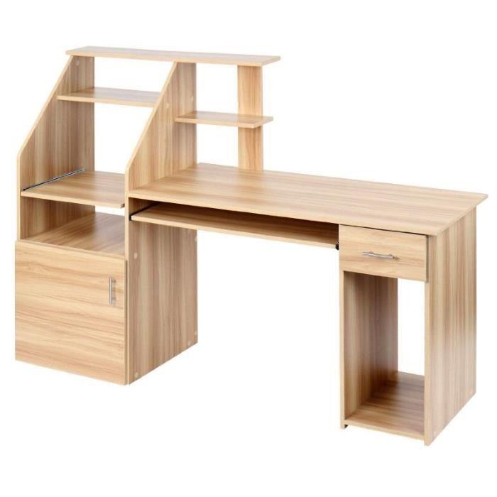 ce bureau avec tablette pour clavier coulissante et une. Black Bedroom Furniture Sets. Home Design Ideas