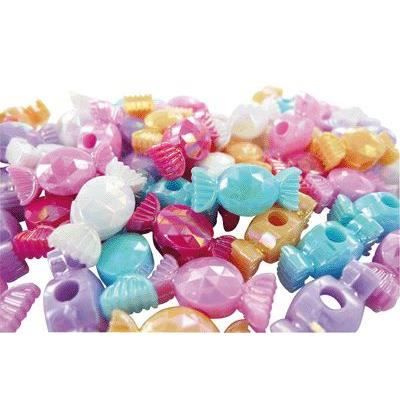 perles opaques iris es pastel en plastique en forme de bonbon sachet de 60 achat vente. Black Bedroom Furniture Sets. Home Design Ideas
