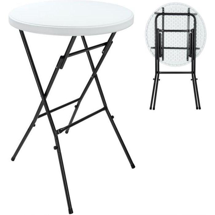 Table De Jardin Pliante 110x80cm Blanche En M Tal Achat Vente Table De Jardin Table De