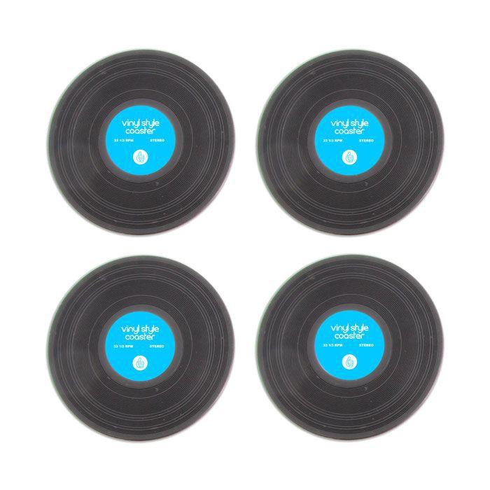 Dessous de verre disques vinyles cadeau d co d achat vente sous verre - Dessous de verre vinyle ...