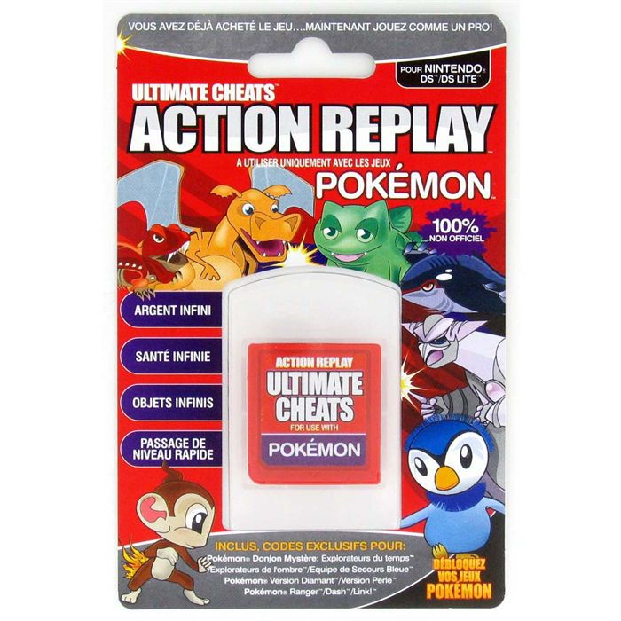 ds action replay pokemon achat vente c ble jeux video ds action replay pokemon soldes d. Black Bedroom Furniture Sets. Home Design Ideas