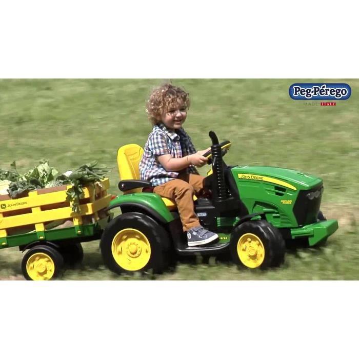 tracteur chantier tracteur 12v avec remorque john deere ground force