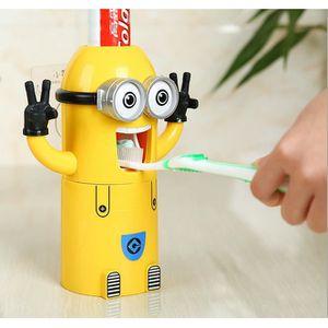 BOITE APPAREIL DENTAIRE Minions design Wash Set Brosse à dents Distributeu