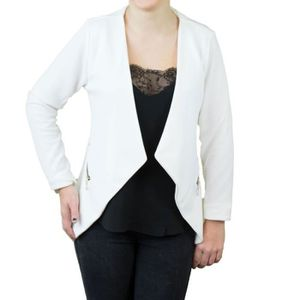 VESTE Veste blazer femme blanche effet gilet léger poche
