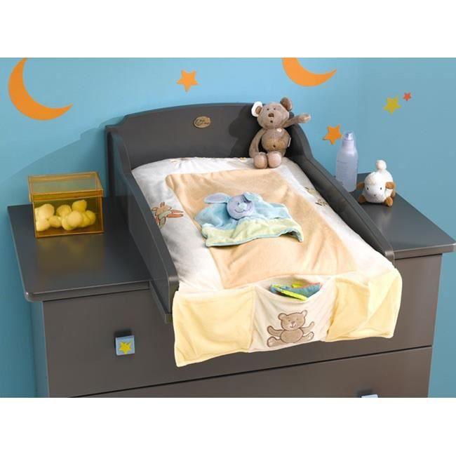 Plan langer pour commode b b gris achat vente table for Commode table a langer bebe