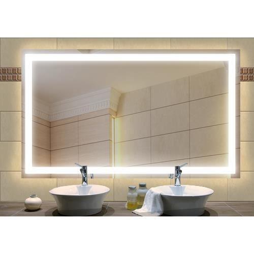 miroir clairage int gr 1200x650 mm achat vente