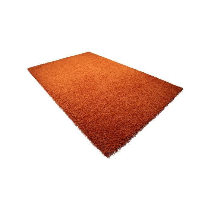 benuta tapis poils longs cambria orange 200x290 cm achat vente tapis cdiscount. Black Bedroom Furniture Sets. Home Design Ideas